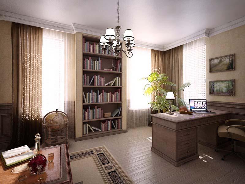 Фото интерьер кабинета в доме